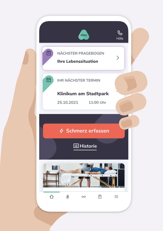 App-Ansicht alley
