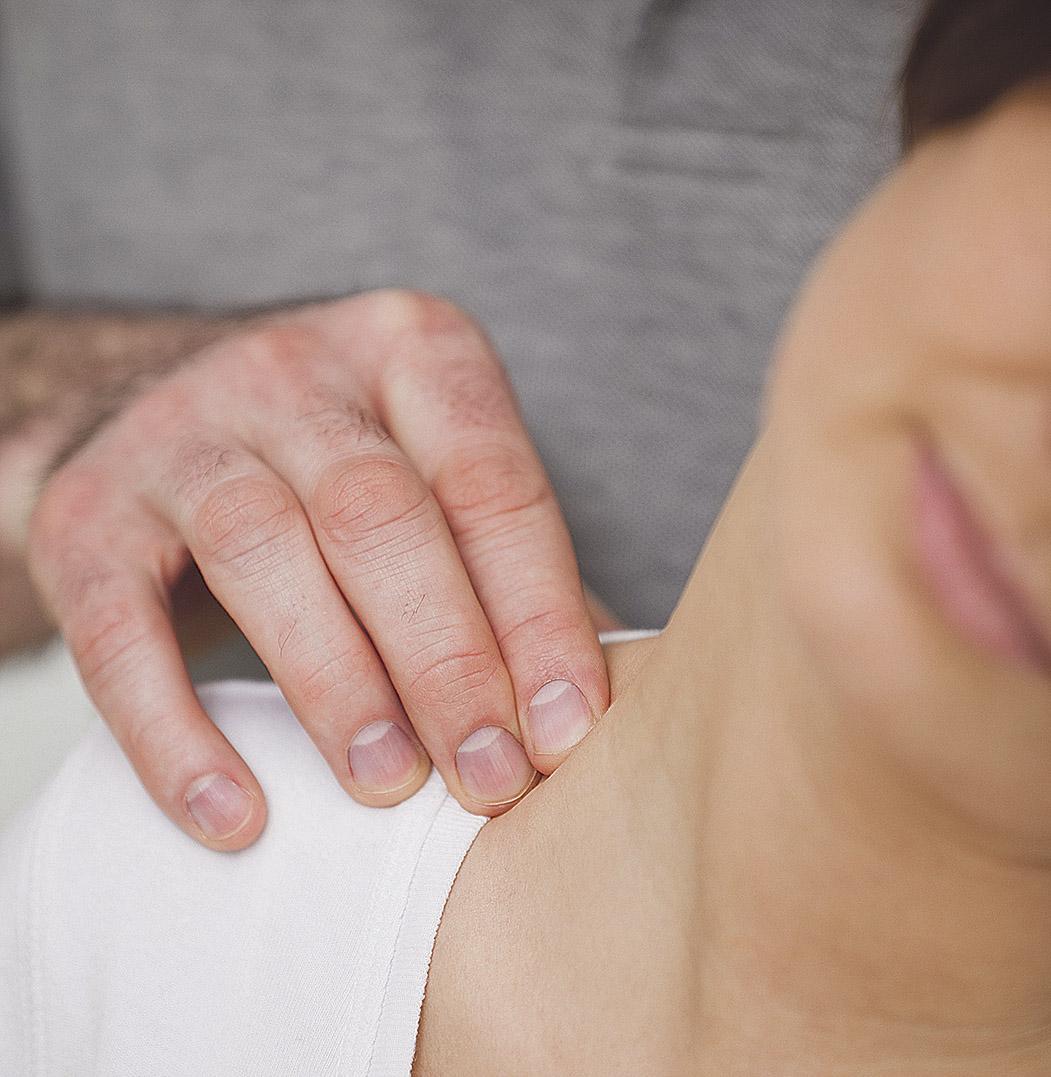 Detailansicht: Nackenmassage
