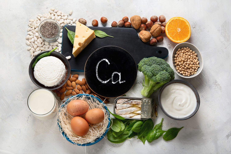 Lebensmittel reich an Kalzium.